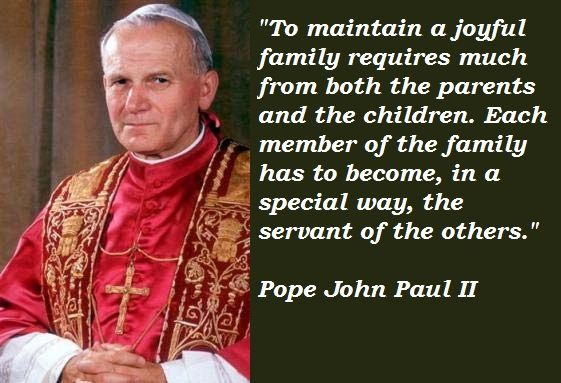 Quotes From Pope John Paul Ii: POPE JOHN PAUL II QUOTES Image Quotes At Relatably.com