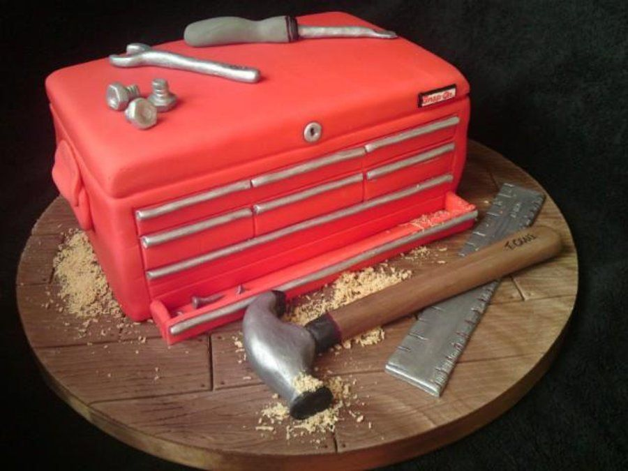 Cake Decorating Tool Box Toolbox Cake  Cakes  Pinterest  Cake