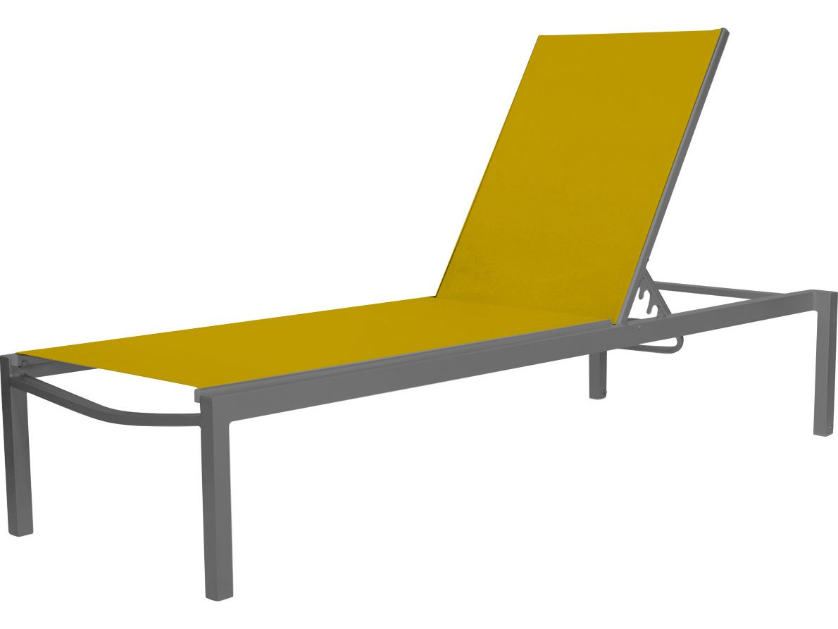$555 Free Shipping Source Outdoor Furniture Fusion Aluminum Armless Chaise  | SO 3001 134