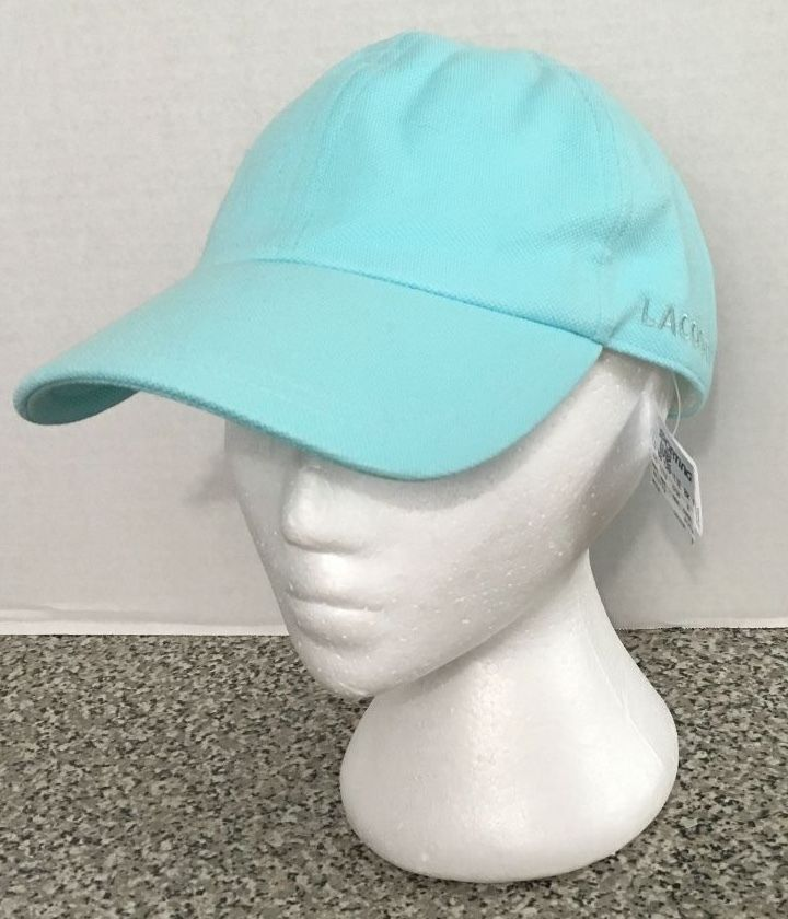 766759e5 Women's Lacoste Tie Back Hat Cap Blue New With Tags #Lacoste #TieBack