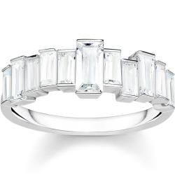 Photo of Thomas Sabo Ring white stones baguette cut gray