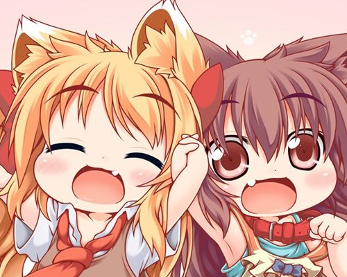2 Cute Chibi Girls Anime Anime Art Beautiful Chibi Girl