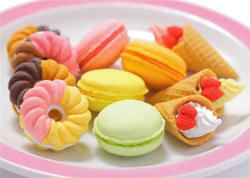 Rosa Makrone Radiergummi Französisches Gebäck Aus Japan 2. Französische  DessertsMakronenValentinstag ...