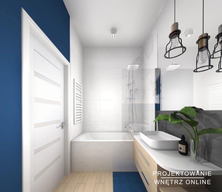 Projekt łazienki Projektowanie Wnętrz Online Projekty