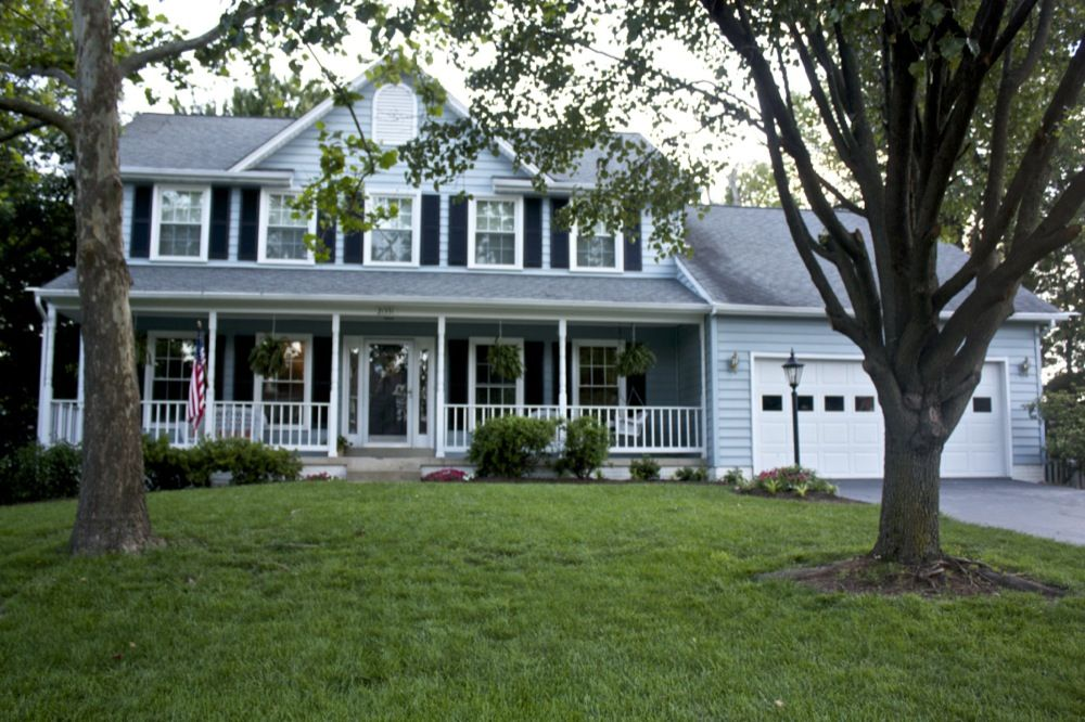 Painting Shutters Can Totally Change The Look Of Your House Light Blue Houses House Exterior Blue Exterior House Colors