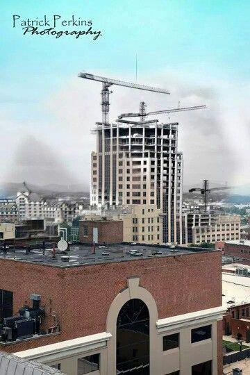 Wells Fargo Bldg Under Construction In Roanoke Va Roanoke Virginia Roanoke Va Roanoke