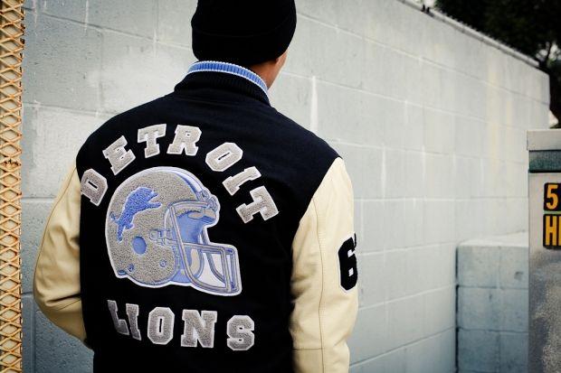 G Iii Axel Foley Detroit Lions Varsity Jacket Varsity Jacket Vintage Jacket Outfit Detroit Lions