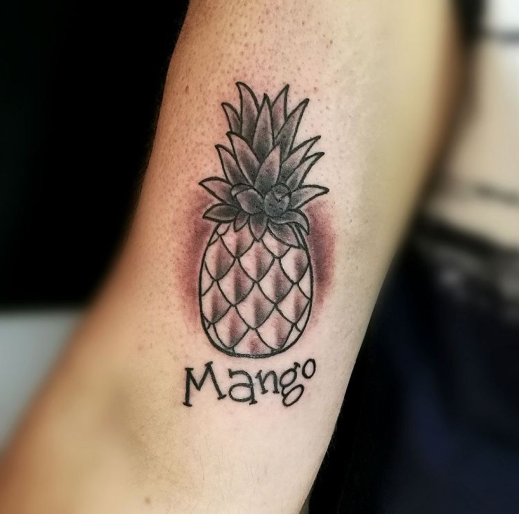 My Tattoo🍍 #ananas #mango #tattoo #whatisit #nobodyknow # ...