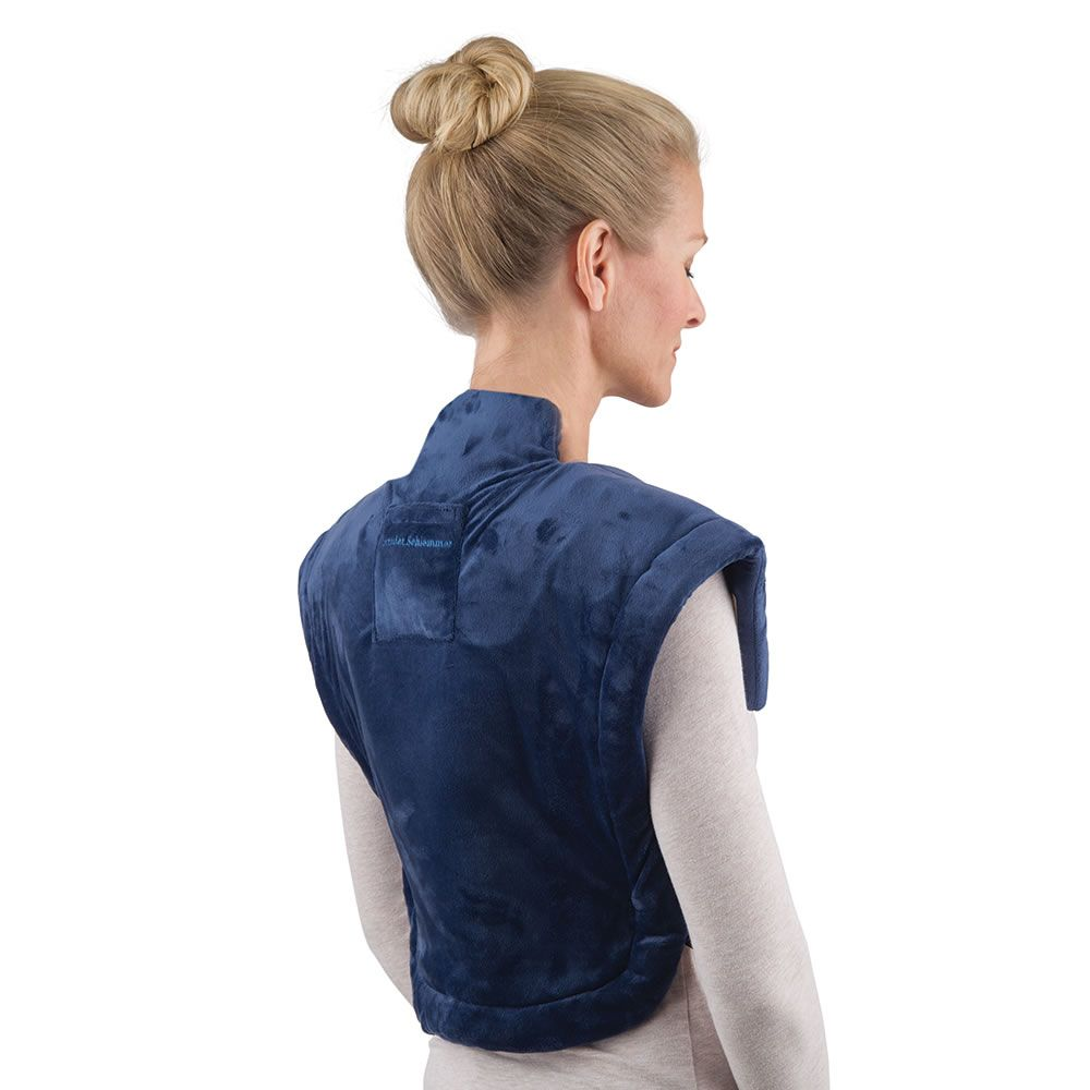 The Cordless Neck And Shoulder Heat Wrap Hammacher
