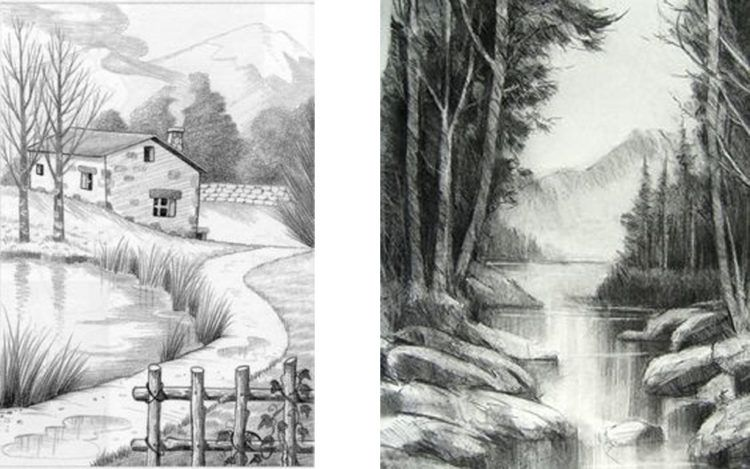 Aprender A Dibujar Paso A Paso Dibujo Paso A Paso Paisaje A Lapiz Produccion Artistica