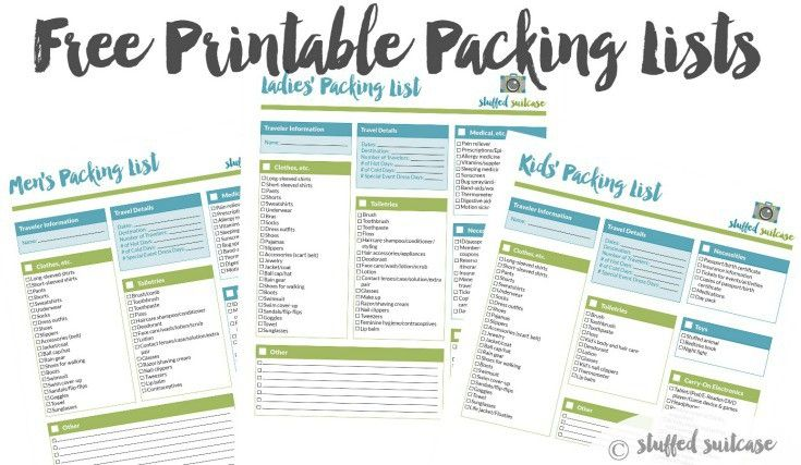 Packing List Template Printable  Packing List Template And Vacation
