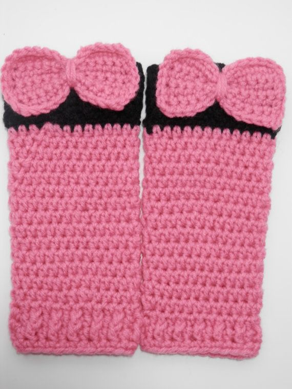 Hand Crocheted Minnie Mouse Leg Warmers Size by LehoskysCuriosity, $11.00