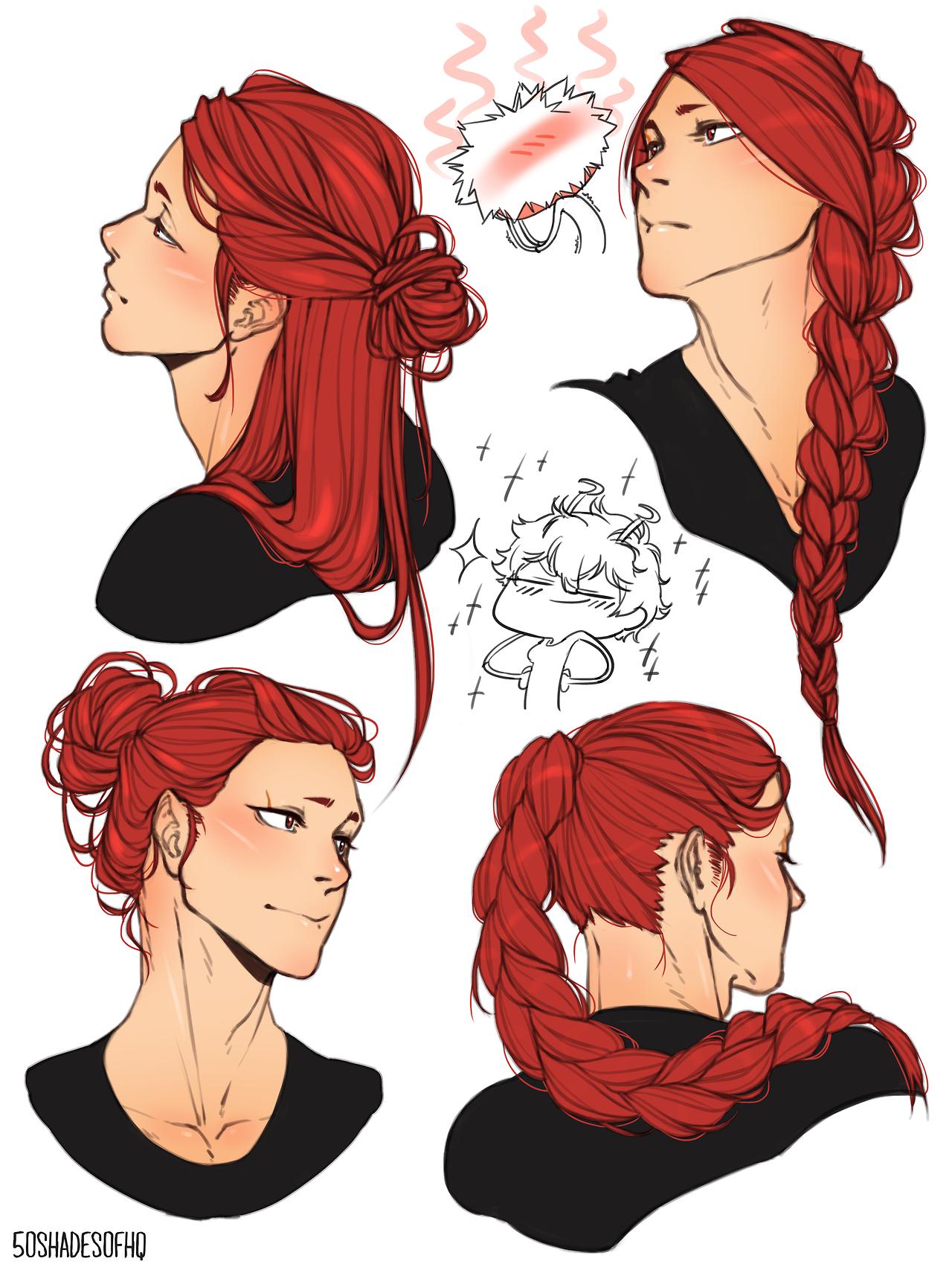 Kirishima Long Hair Tumblr Drawings Character Art How To Draw Hair
