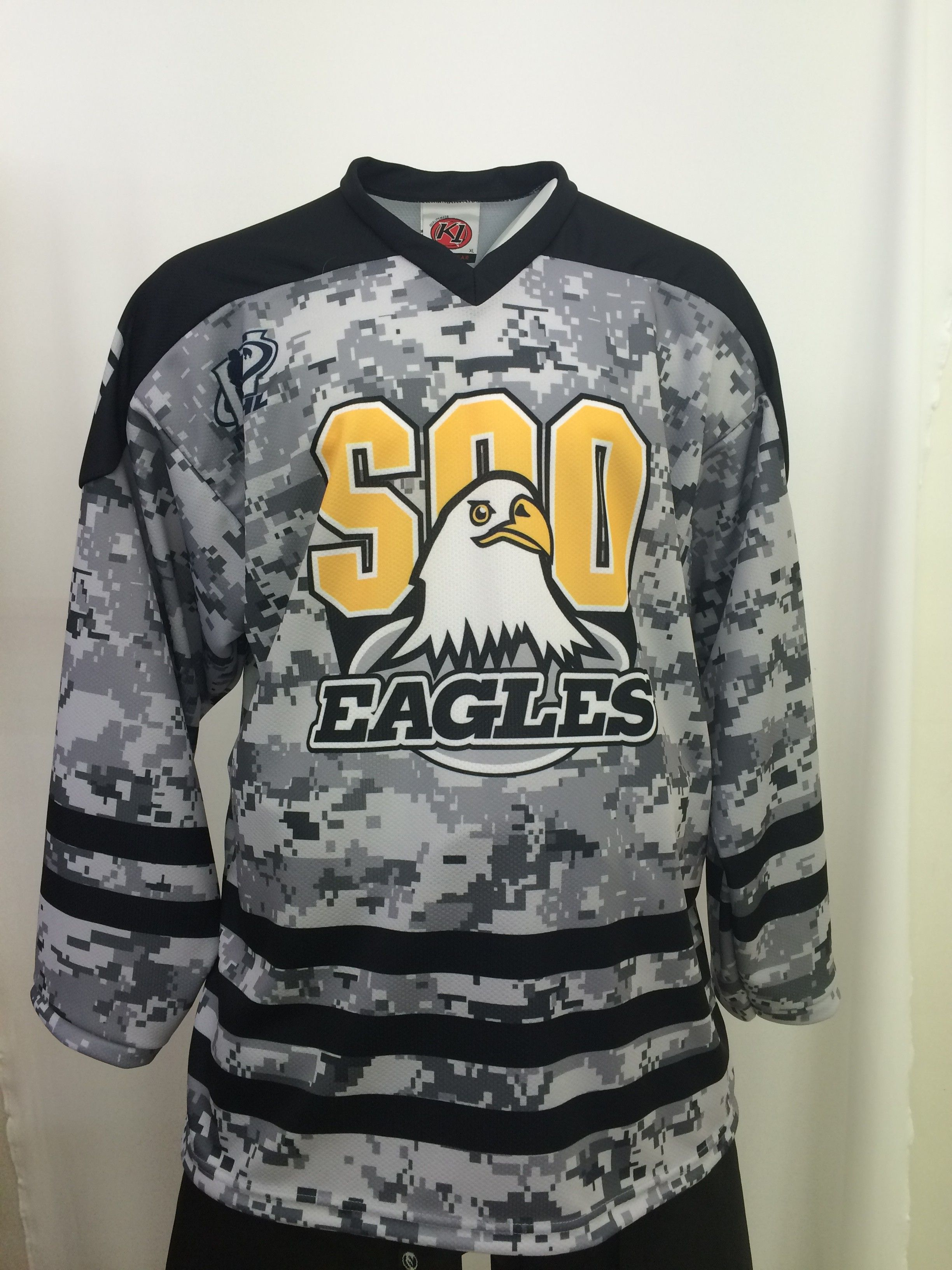 076a8790bb9 Custom Soo Eagles Sublimated Digi-Camo Hockey Jersey. Made in the USA at K1  Sportswear.