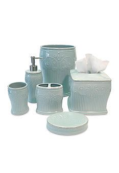 french perle ice blue bath accessories