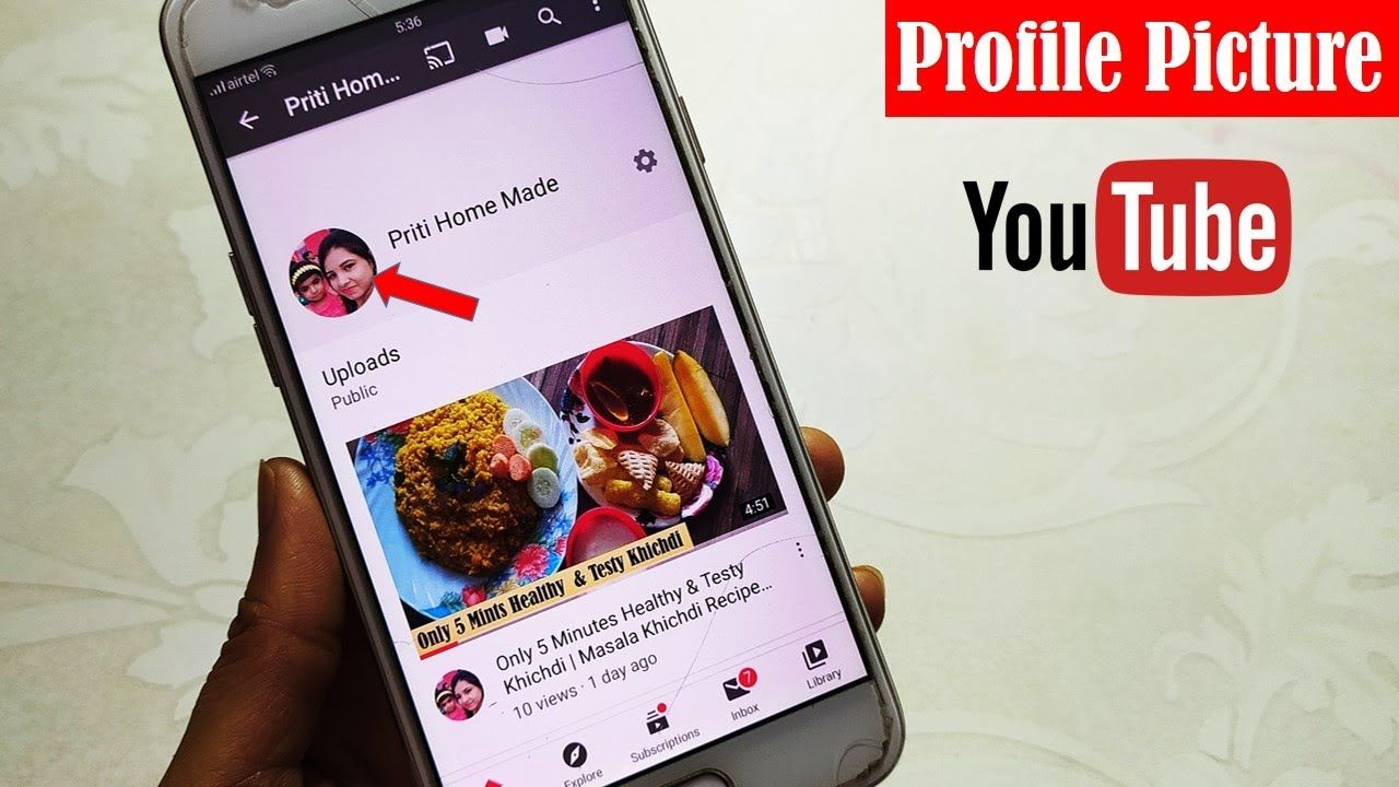 How To Change Youtube Profile Picture On Android 2020 Profile Picture Youtube My Photos