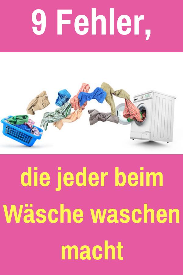 9 Fehler Die Fast Jeder Beim Wasche Waschen Macht Haushalt