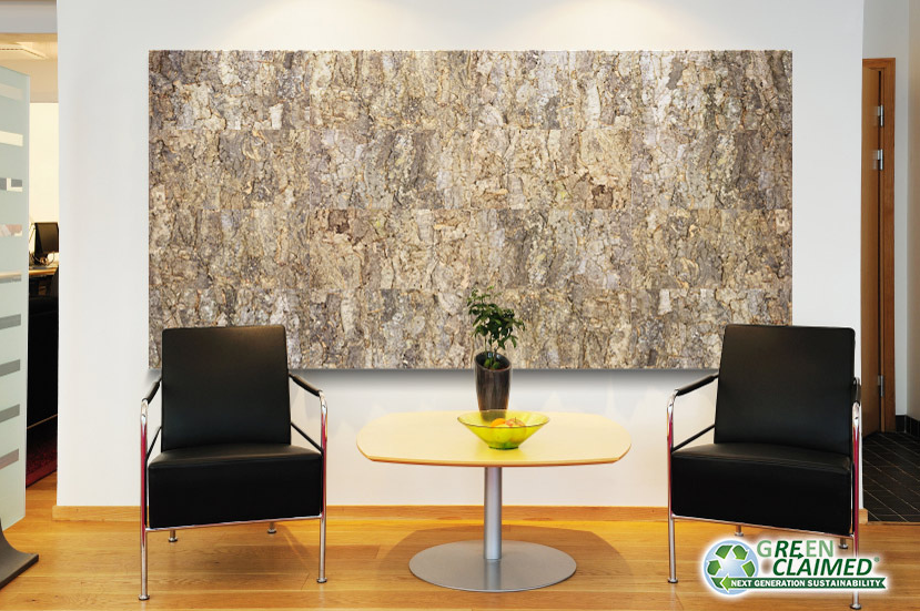 Cork Wall Tile In Tundra Made From The Bark Of The Cork Oak Tree