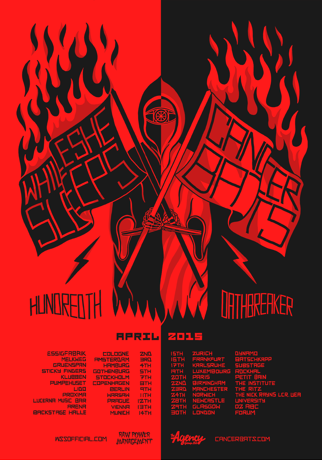 Wss Berlin Wss Cancer Bats Hundreth Oathbraker Bands Music