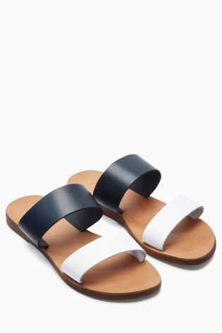 d55b8501613 Buy Navy Two Band Sandals online today at Next  New Zealand ...