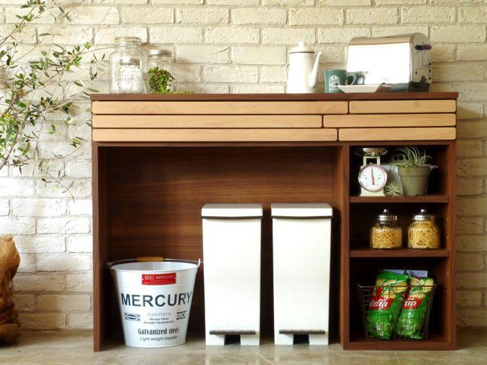 キッチンカウンター 国産 木製 家具 おしゃれ 開梱設置配送 キッチン
