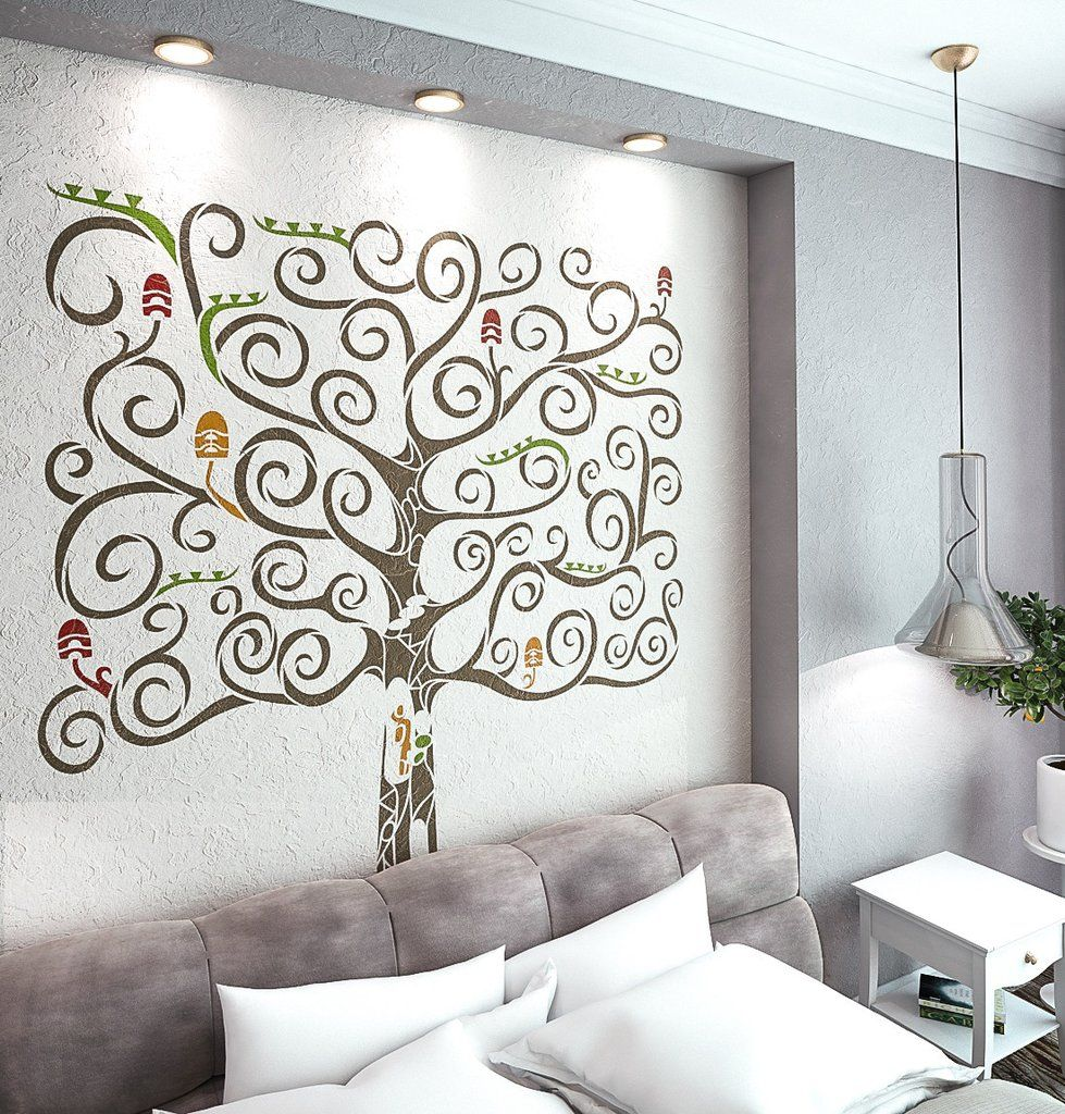 Fantasy tree stencil for walls large tree wall stencil tree fantasy tree stencil for walls large tree wall stencil amipublicfo Images