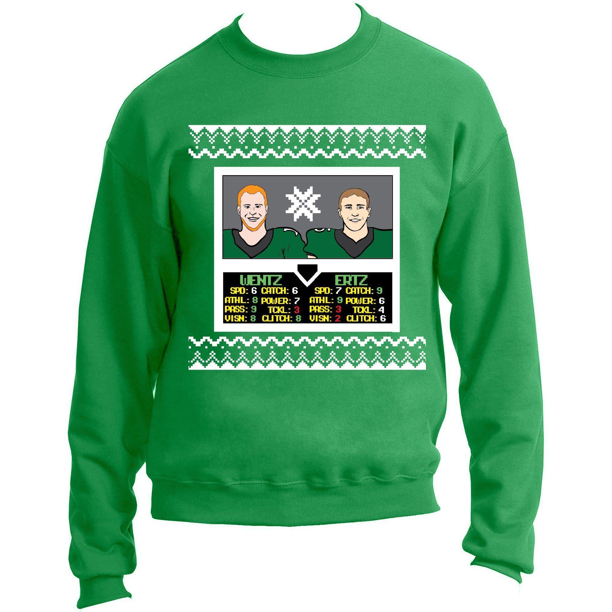 Philadelphia Carson Wentz And Zach Ertz Nba Jam Ugly Christmas