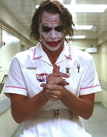 The Joker Heath Ledger Nurse
