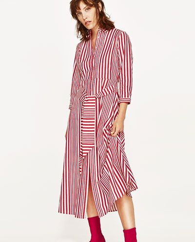 767599afbb8c STRIPED SHIRT-STYLE TUNIC-View All-DRESSES-WOMAN
