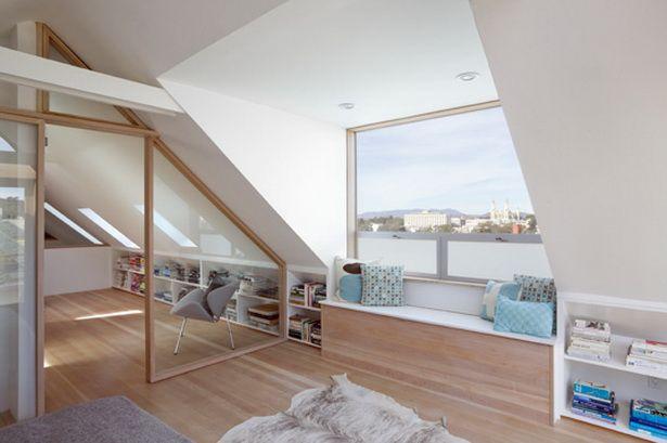 Wohnideen dachschräge | attic idea | Dachschräge, Dachgeschoss ...