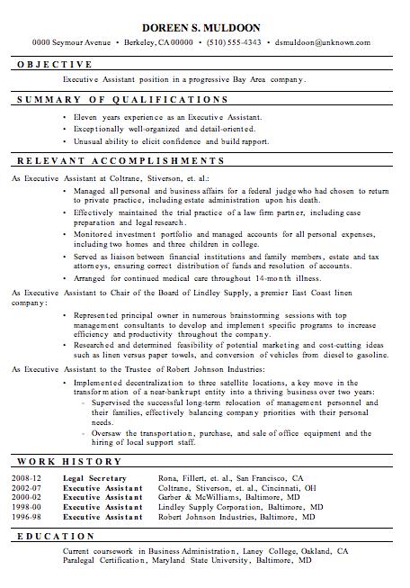 administrative assistant hybrid resume sample