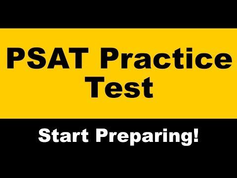 Psat Practice Test And Links To Psat Self Assessment Modules