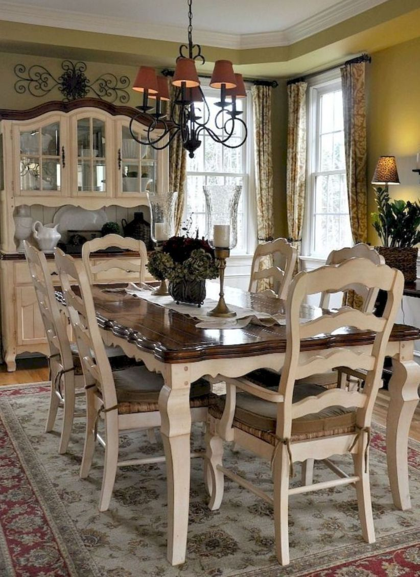 50 Incredible Fancy French Country Dining Room Design Ideas