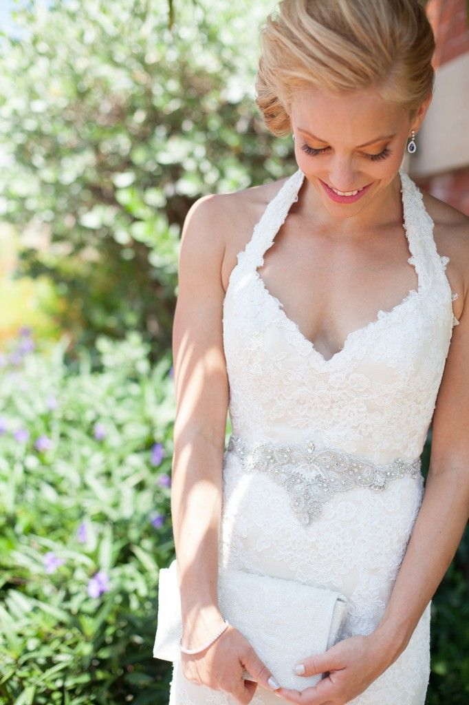 Actress Amy Paffrath wed actor/singer Drew Seeley looking gorgeous in @Anne Barge's Merrill gown!