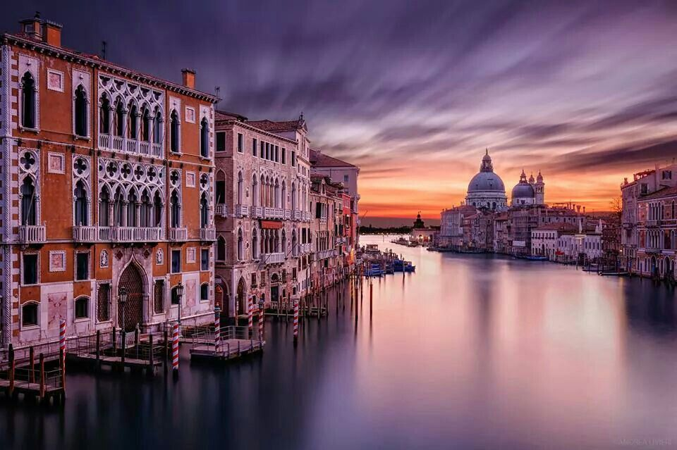 Sunrise light on Venice