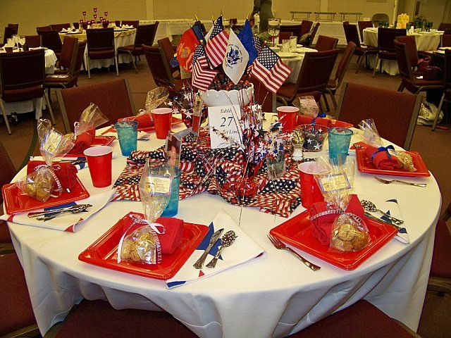 Patriotic Centerpieces | July 4th Table Decorations - Flag ...