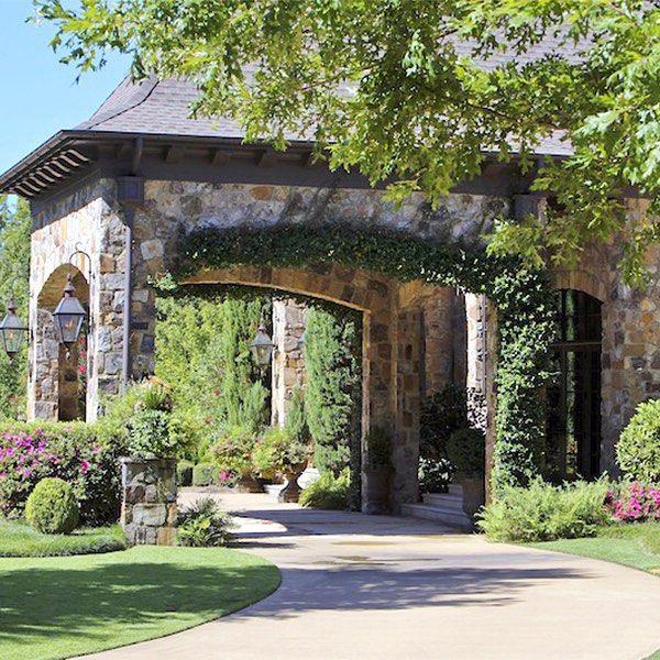 Stone porte coch re home design ideas pinterest for Cottage house plans with porte cochere