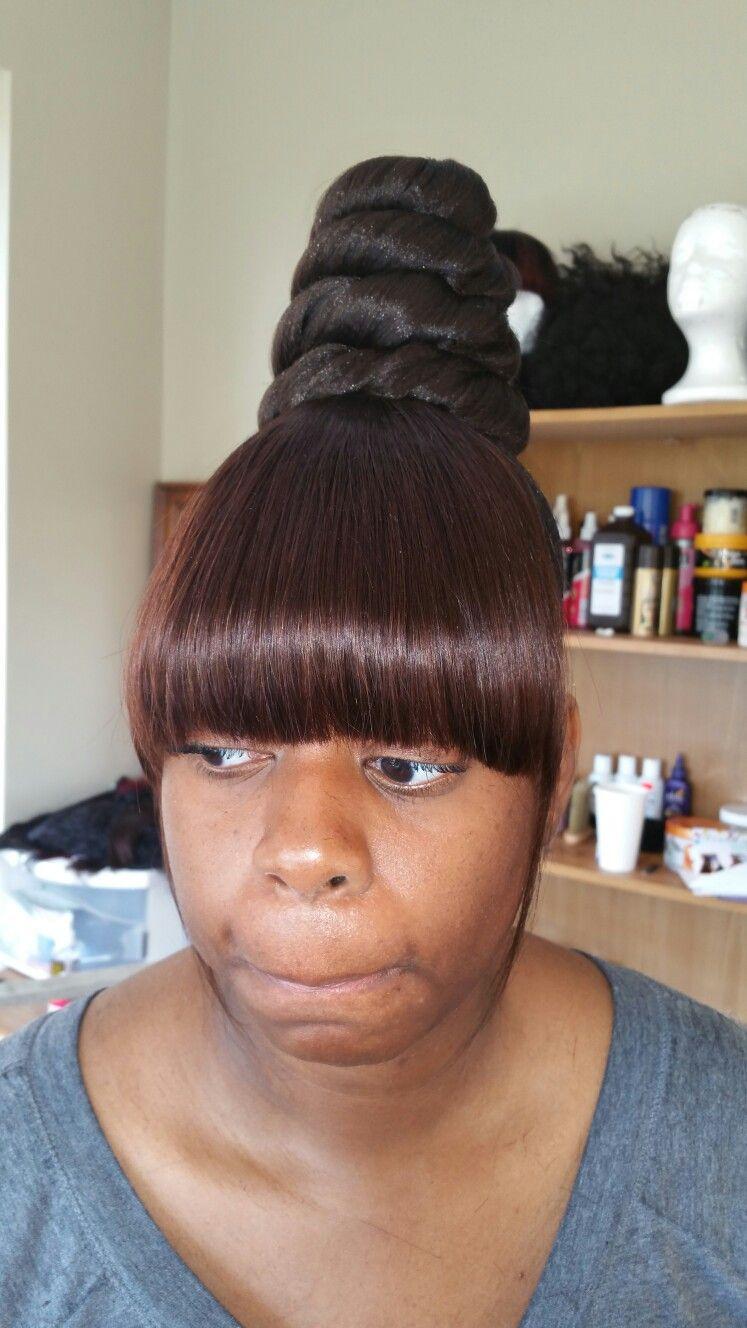 kashdoll | top knot bun | hair | pinterest | ponytail, hair style