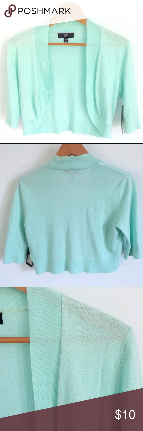 mossimo mint green open front shrug - Mint Green Colors