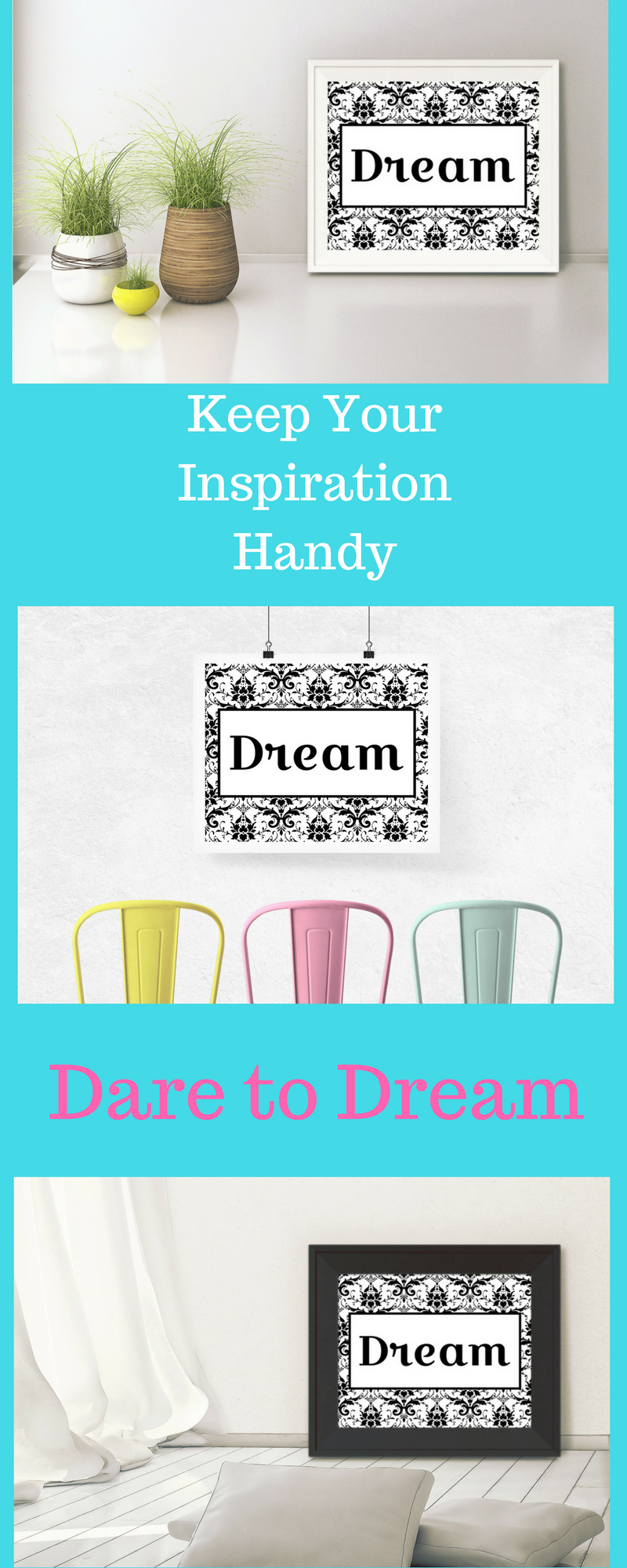 Get this super cute print to keep you motivated wall decor wall