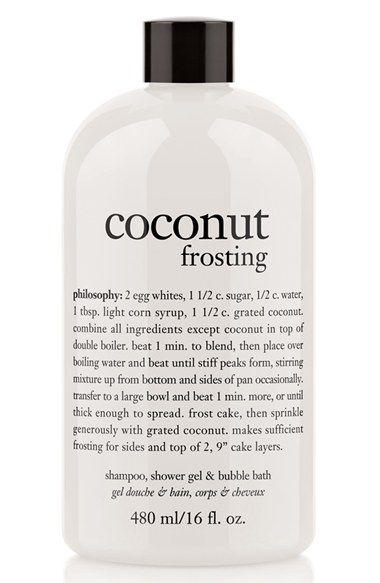 Coconut Frosting Shampoo Shower Gel Bubble Bath