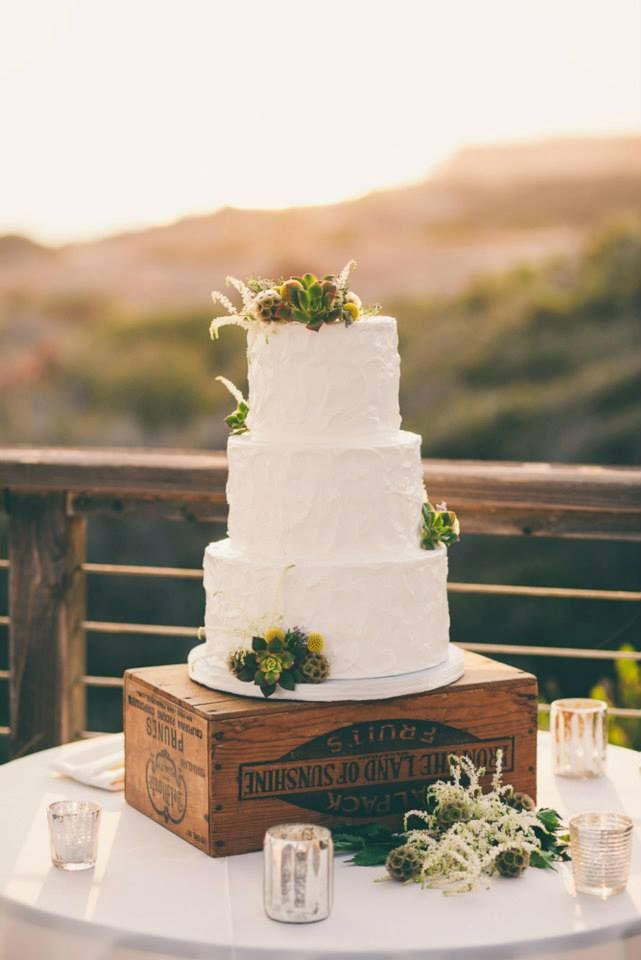 Rustic Wedding Cake by Simply Sweet Cakery