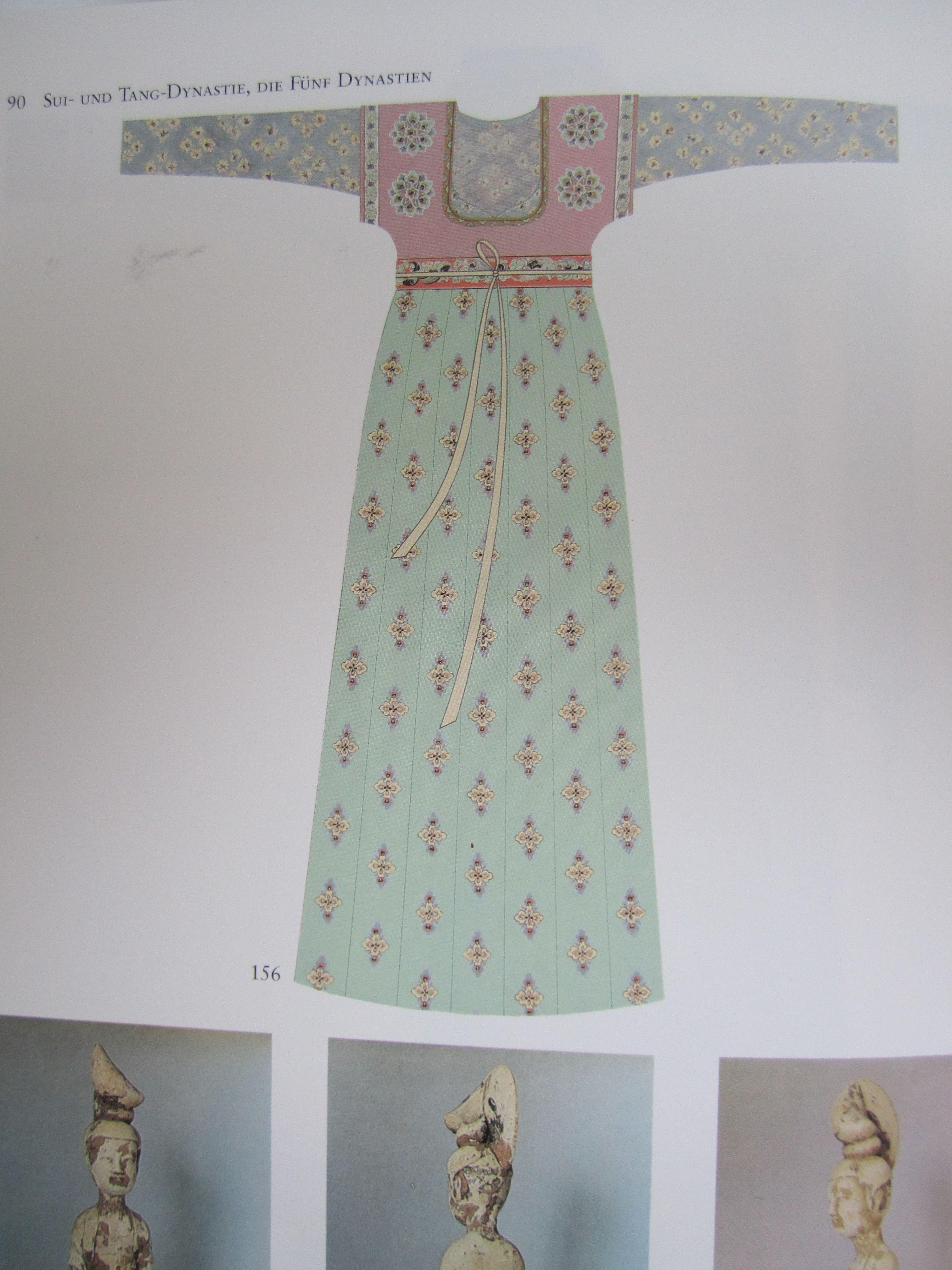 Einfache Frauenkleidung Sui/Tang, Historische Rekonstruktion