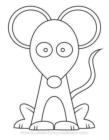 mouse drawing easy - Пошук Google | Фетр | Pinterest | Mice, Sewing ...