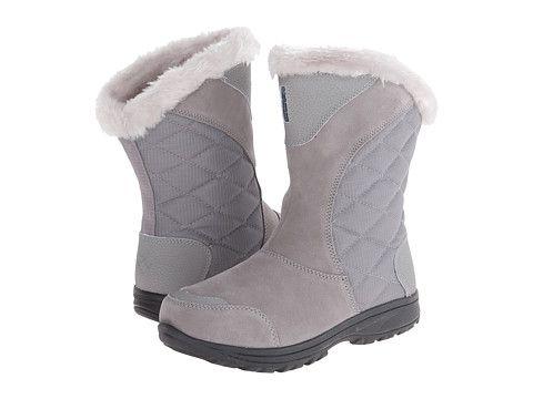 Columbia Ice Maiden Ii Slip Light Grey Siberia Zappos