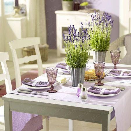 Lavendel-Deko - dufte Ideen für den Sommer - lavendel-tischdeko  Rezept
