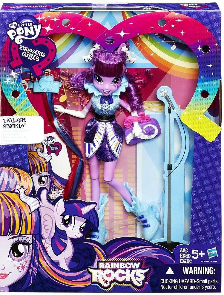 My Little Pony Equestria Girls Rainbow Rocks Twilight Sparkle Doll - Rockin hairstyles dolls