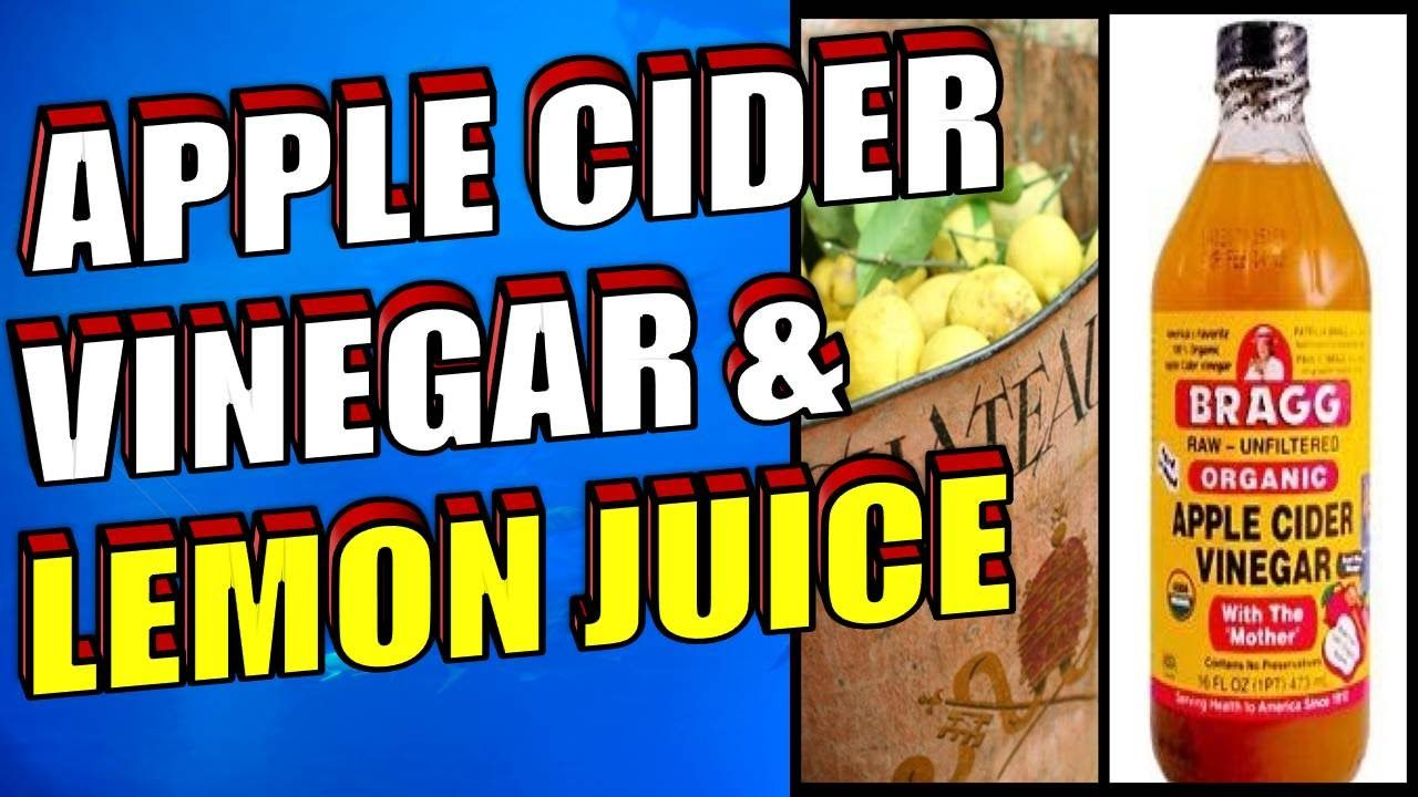 the benefits of apple cider vinegar & lemon juice for weight