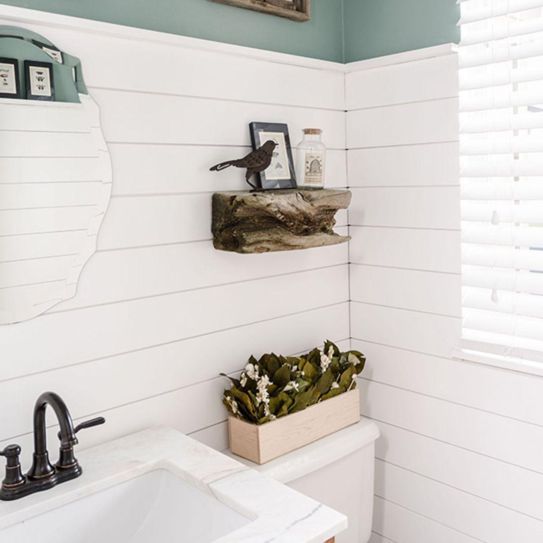 Zinsser Interior Paint Transforms Bathroom Shiplap In 2020 Interior Paint Ship Lap Walls Mold And Mildew