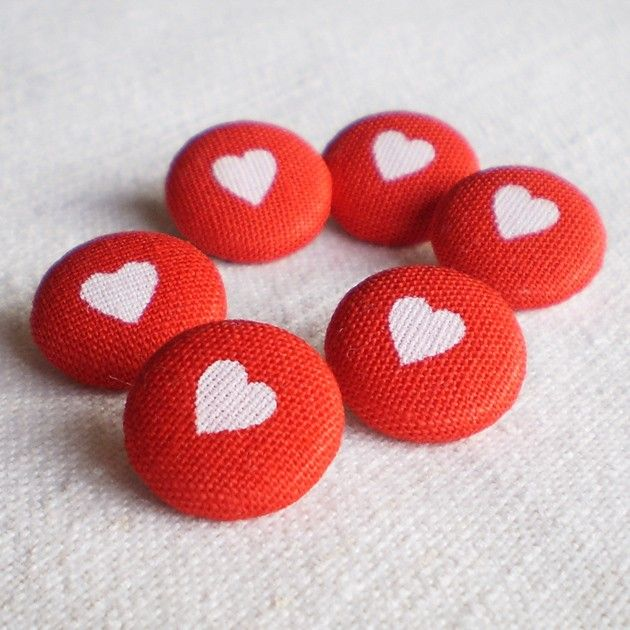 Fabric Buttons! $3.50, via Etsy.